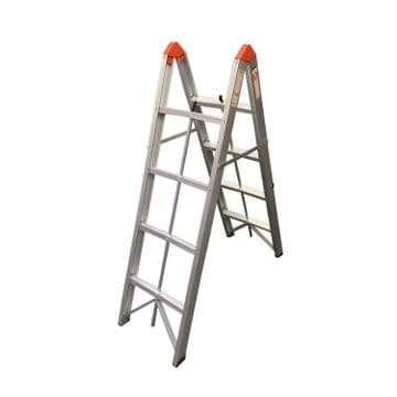4 Step FOLDING COMPACT and COLLAPSIBLE ALUMINIUM STEP LADDERS 150kgs cap. EN131
